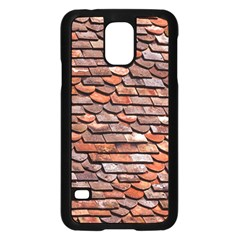 Roof Tiles On A Country House Samsung Galaxy S5 Case (black) by Jojostore