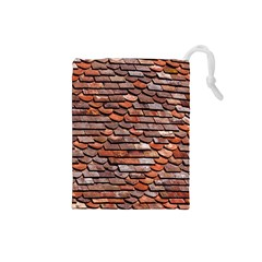 Roof Tiles On A Country House Drawstring Pouch (small) by Jojostore