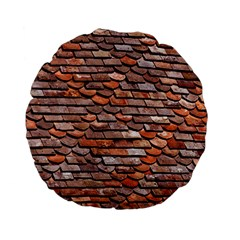 Roof Tiles On A Country House Standard 15  Premium Flano Round Cushions by Jojostore