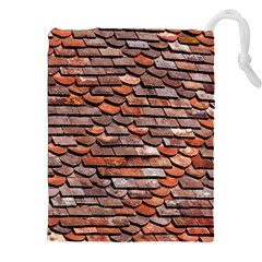 Roof Tiles On A Country House Drawstring Pouch (xxl) by Jojostore