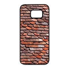 Roof Tiles On A Country House Samsung Galaxy S7 Edge Black Seamless Case by Jojostore