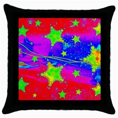 Red Background With A Stars Throw Pillow Case (black) by Jojostore