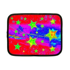 Red Background With A Stars Netbook Case (small)