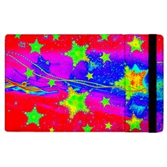 Red Background With A Stars Apple Ipad 2 Flip Case by Jojostore