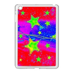 Red Background With A Stars Apple Ipad Mini Case (white) by Jojostore