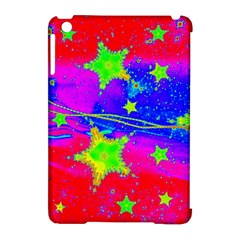 Red Background With A Stars Apple Ipad Mini Hardshell Case (compatible With Smart Cover)
