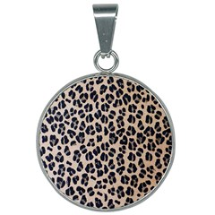 Background Pattern Leopard 25mm Round Necklace