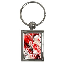 Red Fractal Art Key Chains (rectangle)