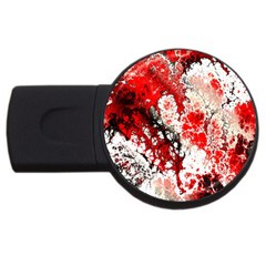 Red Fractal Art Usb Flash Drive Round (2 Gb) by Jojostore