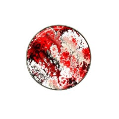 Red Fractal Art Hat Clip Ball Marker by Jojostore