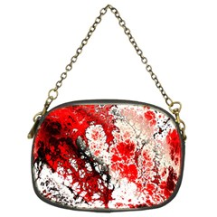 Red Fractal Art Chain Purse (two Sides) by Jojostore