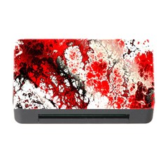 Red Fractal Art Memory Card Reader With Cf