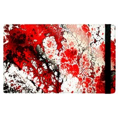 Red Fractal Art Apple Ipad Pro 12 9   Flip Case