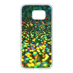 Construction Paper Iridescent Samsung Galaxy S7 Edge White Seamless Case