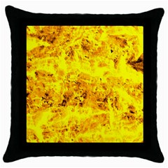 Yellow Abstract Background Throw Pillow Case (black)