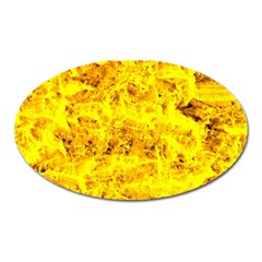 Yellow Abstract Background Oval Magnet