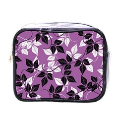 Floral Pattern Background Mini Toiletries Bag (one Side) by Jojostore