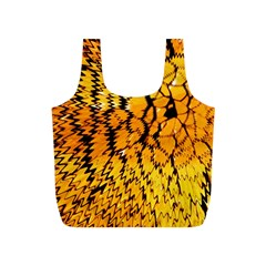 Yellow Chevron Zigzag Pattern Full Print Recycle Bag (s)