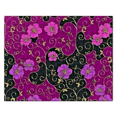 Floral Pattern Background Rectangular Jigsaw Puzzl by Jojostore