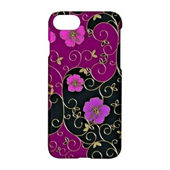 Floral Pattern Background Apple Iphone 8 Hardshell Case