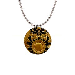 Golden Sun 1  Button Necklace