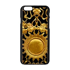 Golden Sun Apple Iphone 6/6s Black Enamel Case