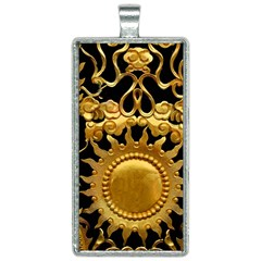 Golden Sun Rectangle Necklace