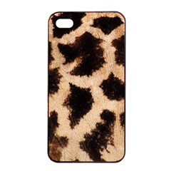 Yellow And Brown Spots On Giraffe Skin Texture Apple Iphone 4/4s Seamless Case (black) by Jojostore