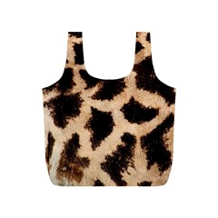 Yellow And Brown Spots On Giraffe Skin Texture Full Print Recycle Bag (s)