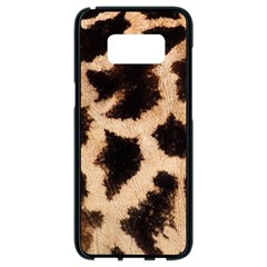 Yellow And Brown Spots On Giraffe Skin Texture Samsung Galaxy S8 Black Seamless Case