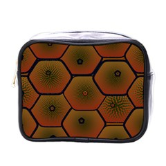 Art Psychedelic Pattern Mini Toiletries Bag (one Side)