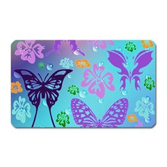 Butterfly Vector Background Magnet (rectangular)
