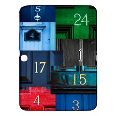 Door Number Pattern Samsung Galaxy Tab 3 (10 1 ) P5200 Hardshell Case  by Jojostore