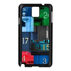 Door Number Pattern Samsung Galaxy Note 3 N9005 Case (black)