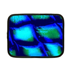 Blue Scales Pattern Background Netbook Case (small) by Jojostore