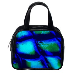 Blue Scales Pattern Background Classic Handbag (one Side) by Jojostore