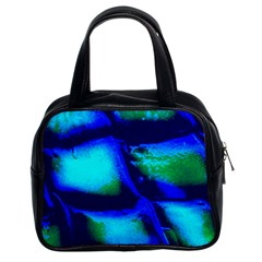 Blue Scales Pattern Background Classic Handbag (two Sides) by Jojostore