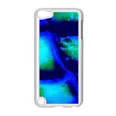 Blue Scales Pattern Background Apple Ipod Touch 5 Case (white) by Jojostore