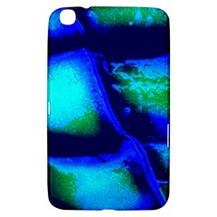 Blue Scales Pattern Background Samsung Galaxy Tab 3 (8 ) T3100 Hardshell Case  by Jojostore