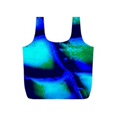 Blue Scales Pattern Background Full Print Recycle Bag (s) by Jojostore