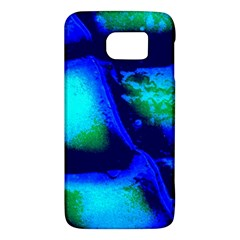 Blue Scales Pattern Background Samsung Galaxy S6 Hardshell Case