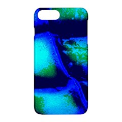 Blue Scales Pattern Background Apple Iphone 8 Plus Hardshell Case