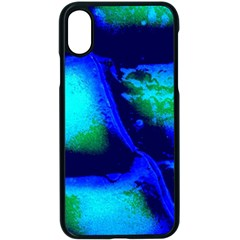 Blue Scales Pattern Background Apple Iphone X Seamless Case (black) by Jojostore