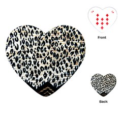 Tiger Background Fabric Animal Motifs Playing Cards (heart) by Jojostore