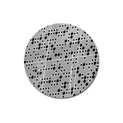 Metal Background Round Holes Magnet 3  (round) by Jojostore
