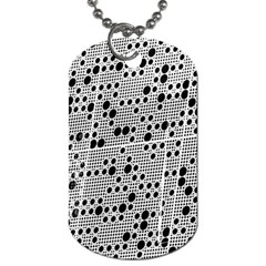Metal Background Round Holes Dog Tag (two Sides) by Jojostore