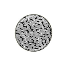 Metal Background Round Holes Hat Clip Ball Marker (4 Pack)