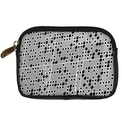 Metal Background Round Holes Digital Camera Leather Case by Jojostore
