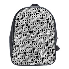 Metal Background Round Holes School Bag (large)