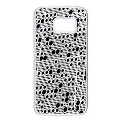 Metal Background Round Holes Samsung Galaxy S7 White Seamless Case by Jojostore
